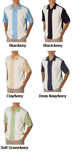 Cubavera Pieced Bedford Cord Camp Shirt - All Colors