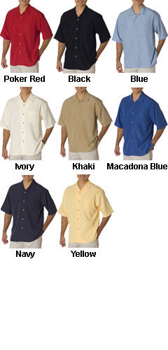 Mens Cubavera Shadow Box Camp Shirt - All Colors