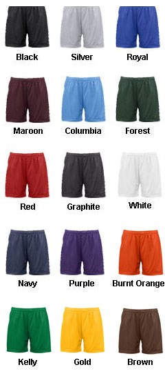 Badger Ladies Mesh/Tricot Short - All Colors