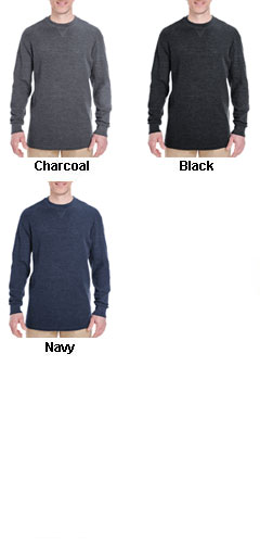 UltraClub Mens Mini Thermal Crewneck  - All Colors