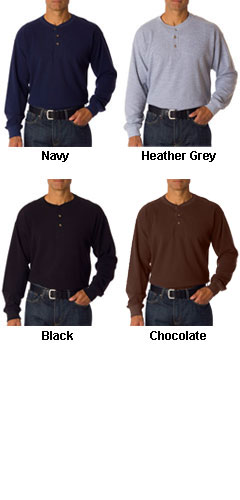 Adult Mini Thermal Henley - All Colors
