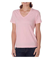 Custom Ladies Ring-Spun Organic Cotton V-Neck Tee