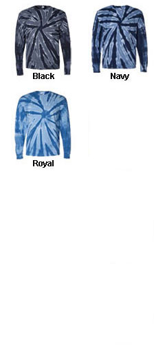 Long Sleeve Pinwheel Tie-Dye Tee - All Colors