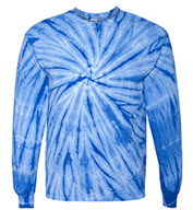 Custom Long Sleeve Pinwheel Tie-Dye Tee