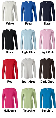 100% Ultra Cotton Ladies Long Sleeve Tee - All Colors