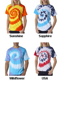 Adult Multi-Color Swirl Tee - All Colors