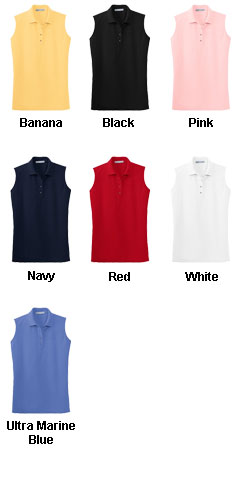 Ladies Silk Touch Sleeveless Sport Shirt - All Colors