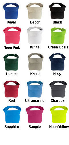 Fashion Visor with Adjustable Velcro Back - All Colors