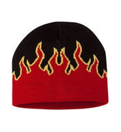 Custom Magic Flame Knit Beanie Cap