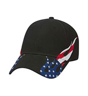 Custom United States Flag Flame Pattern Racing Cap