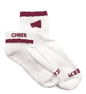 Girls Megaphone Cheerleader Socks