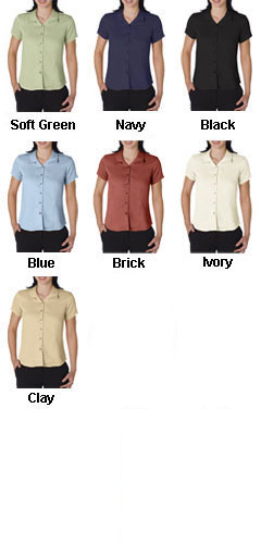Ladies Bedford Cord Camp Shirt by Cubavera - All Colors