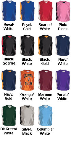 Youth Reversible Dazzler Basketball Jersey - All Colors