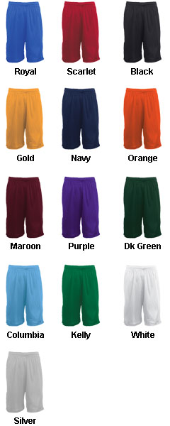 Adult Mesh Basketball Short - 9 inseam - All Colors