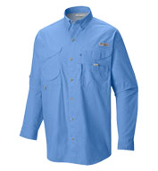 Custom Columbia Long Sleeve Bonehead Fishing Shirt in Tall Sizes