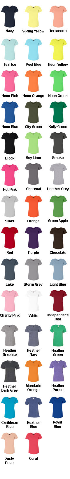 Anvil Ladies 100% Ringspun Cotton Fashion Fit Tee - All Colors