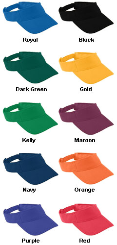 Youth Adjustable Wicking Mesh Visor - All Colors