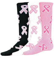 Intermediate Pink Ribbon Game Socks