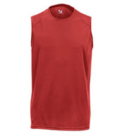 Mens Sleeveless B-Dry Core Tee by Badger