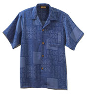 Custom South Seas Geometric Print Camp Shirt