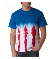 Custom Adult Patriotic Flag Tie Dye Tee