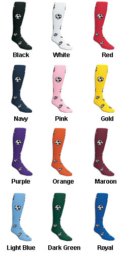 Adult Red Lion Soccer Ball Socks - All Colors