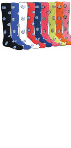 Intermediate Red Lion Volleyball Design Socks - All Colors