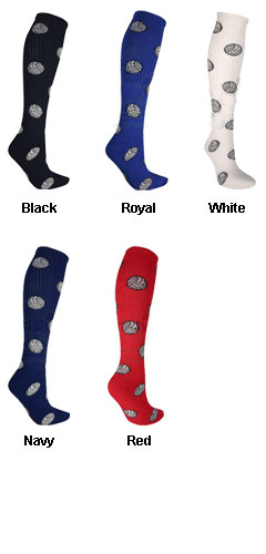 Adult Red Lion Volleyball Design Socks - All Colors