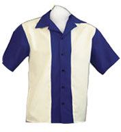 Adult  Rocabilly 80s Bowling Shirts