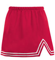 Girls A-Line Cheer Skirt With V-Notch