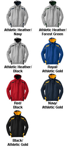 Adult Sport-Tek� - Color-Spliced Pullover Hooded Sweatshirt - All Colors