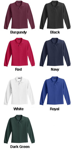 Youth Long Sleeve Silk Touch� Sport Shirt - All Colors