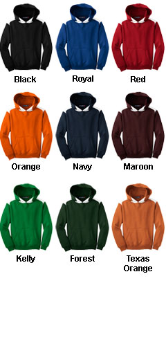 Sport-Tek� - Pullover Hooded Sweatshirt with Contrast Color - All Colors
