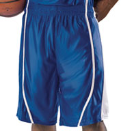 Custom Mens eXtreme Dazzle Reversible Game Basketball Shorts By Alleson