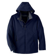 Custom Mens Insulated Soft Shell Jacket With Detachable Hood