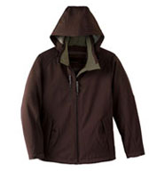 Ladies Insulated Soft Shell Jacket With Detachable Hood