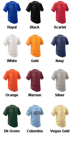 Adult Fencebuster Solid Full Button Jersey - All Colors