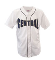 Custom Youth Warning Track Piped Full Button Jersey