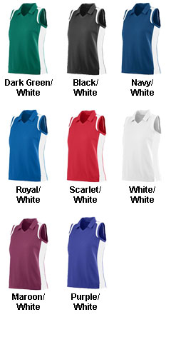Ladies Sleeveless Wicking Textured Gameday Sport Shirt - All Colors