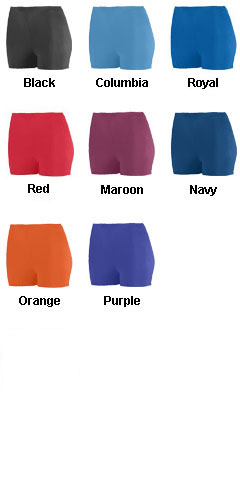Ladies Poly/Spandex 2.5 Inch Short - All Colors