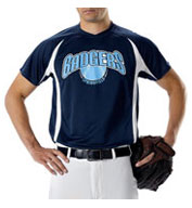 Custom Adult Color Block Baseball Jersey by Alleson Mens