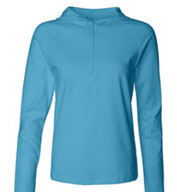 Bella - Ladies Cotton/Spandex � Zip Hooded Pullover