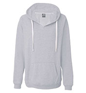 J. America - Ladies Sydney Brushed V-Neck Hooded Sweatshirt