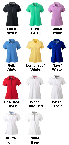 Adidas Golf Womens ClimaLite� Tour Jersey Short-Sleeve Polo - All Colors