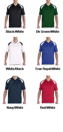 Mens 4 oz. Polytech Colorblock Polo - All Colors