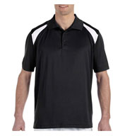 Mens 4 oz. Polytech Colorblock Polo