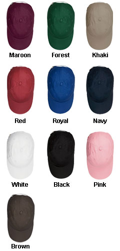 Youth Brushed Cotton Twill Baseball Cap - All Colors