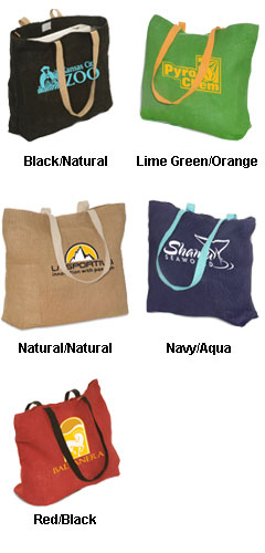 Eco-Green Jute Tote - All Colors