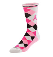 Ribbon Argyle Crew Socks