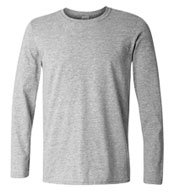 Custom Gildan Adult SoftStyle Long Sleeve T-Shirt Mens